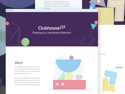 Clubhouse Branding branding design sketchy concept building shape shapes clubhouse brand styleguide illustraiton branding