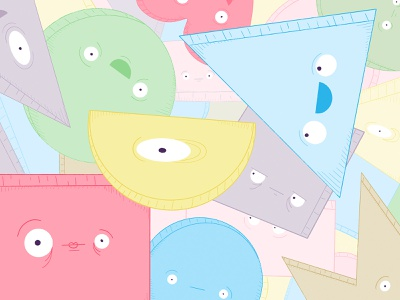 The Shapes, They're Alive! swag hi eyes brand colourful shapes