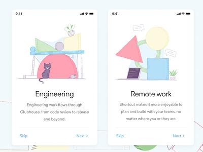 Shaped Illustrations alive color blocks shaped brand website branding illustrations shapes