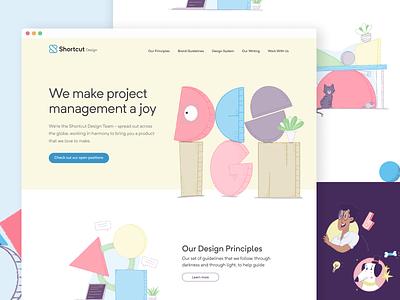 Design at Shortcut team principles design principles brand shortcut design