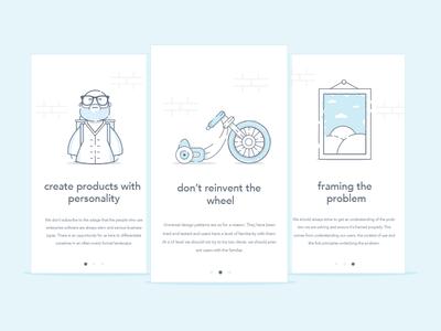 Design Principles picture frame hipster bike illustration design principles