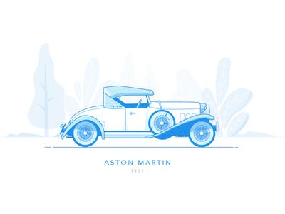 Aston Martin - 1931 dublin ireland vehicle automobile wheel drive motor vintage classic car aston martin car
