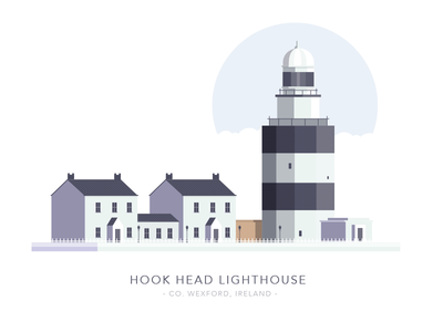 Hook Head Lighthouse, Co. Wexford, Ireland wexford irish sea landscape illustration light home house ireland building lighthouse