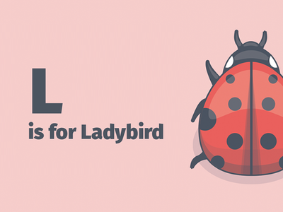 L is for Ladybird ladybird insect donut robot kite carrot bee ant kid kids a to z alphabet