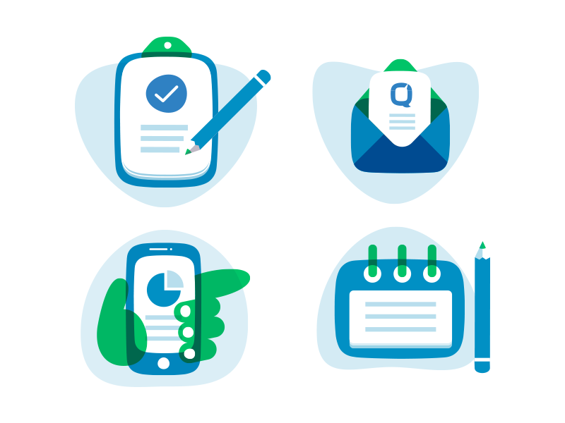 The Icons design system system colourful responsive overlay illustration icon
