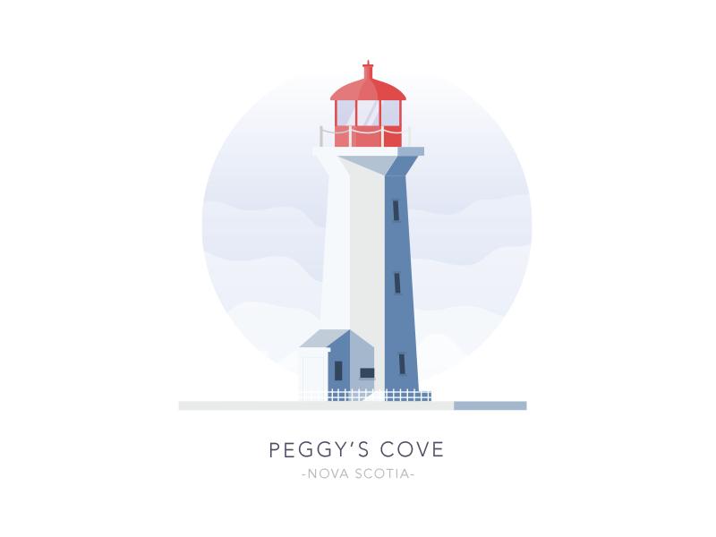 Peggy's Cove, Nova Scotia, Canada architecture simple flat house light building lighthouse