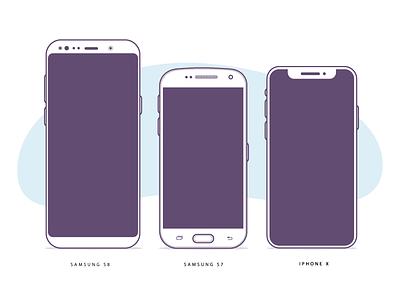 Device Illustrations - free download plane profile wallet money chat blue icon set illustration icon