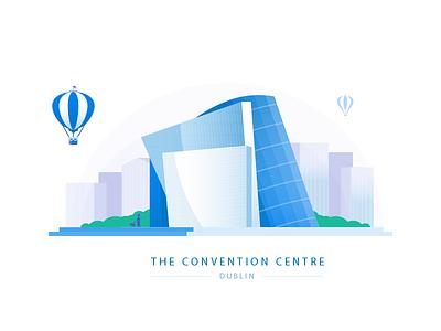 The Convention Centre - Dublin balloon irish building city ireland dublin