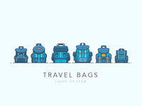 Travel Bags - Loads of Them