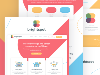 Brightspot Styleguide guidelines guide illustration guide styleguide colour symbol brand b bright logo branding