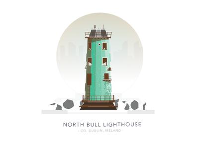 North Bull Lighthouse, Co. Dublin, Ireland northside north bull house light building poolbeg ireland sea dublin lighthouse