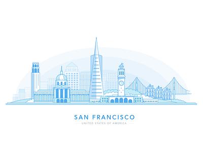 San Francisco Skyline clue california sf cityscape bridge skyline san francisco san fran