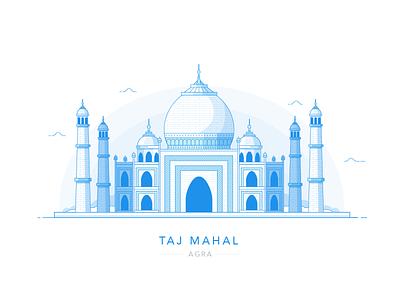 Wonders of the World: Taj Mahal, Agra monument temple cityscape city building landmark india taj mahal agra