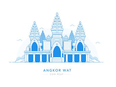 Ankor Wat, Siem Reap asia blue life building wonders of the world cambodia wat ankor ankor wat