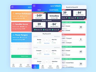 Prediction App prediction betting soccer app football ui sport