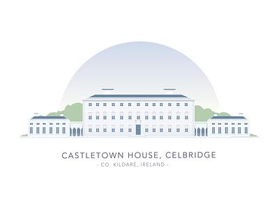 Castletown House, Celbridge, Co. Kildare kildare house building dublin ireland illustration