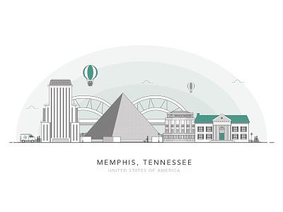 Memphis, Tennessee usa skyline city pyramid graceland tennessee memphis