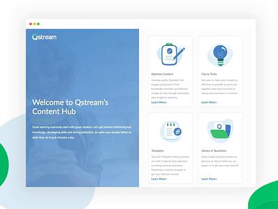 Content Hub content creation illustration 2 col split design hub content