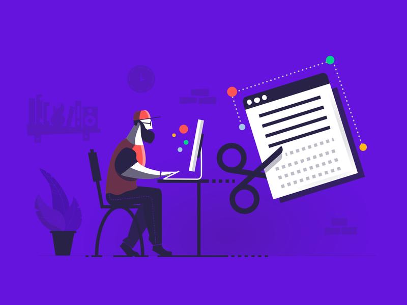 Time to Refactoring your Code purple banner header blog illustration dev code refactor