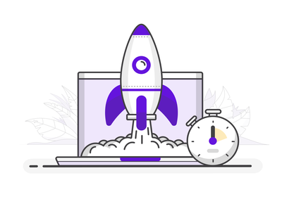 Fast and Responsive fast casual space clock timer working laptop rocket speed fast
