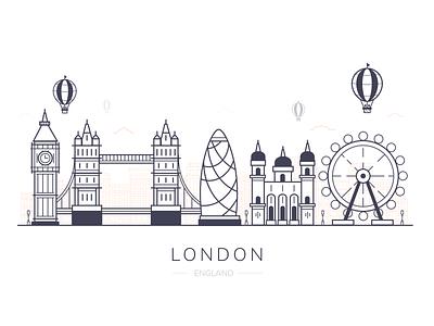 London City london bridge city illustration branding buildings england gherkin london eye big ben skyline city london