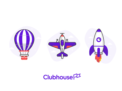 Moving Set vector design paper airplane airplane plane balloon illustration branding rocket icon travel