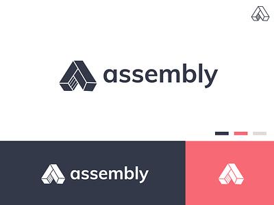 Assembly Branding assembly line make build logo mark branding logo assembly