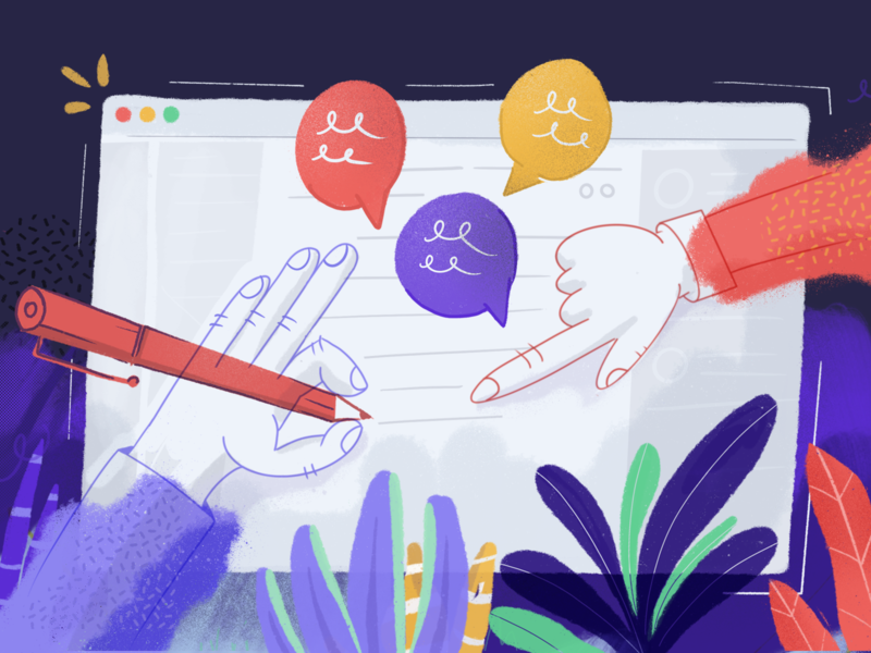 Writing Together clubhouse write hands pointing collaboration help writing illustration banner blog