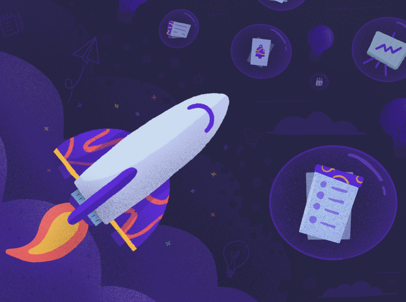 🚀 project management clubhouse space rocket