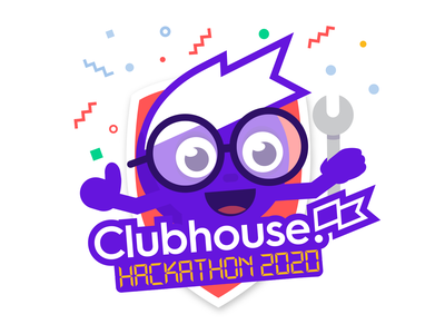 Clubhouse Hackathon 2020 sticker crest clubhouse dot badge hack day hackathon hack