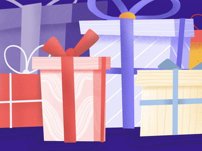 Refer a Friend clubhouse illustration gift box gift card give manager management product project credits earn present procreate gift