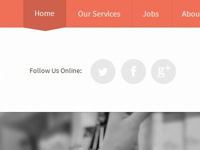 Field Marketing Site social navigation black and white red