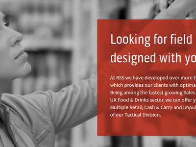 Field Marketing Site black and white red overlay professional