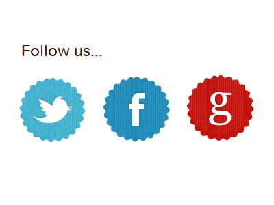 Bakery Site bakery proxima nova soft minimal badge social icons
