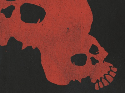 Illustration for a poster design illustration skulls red black texture