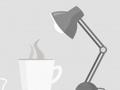 Desktop Illustration coffee lamp illustration texture
