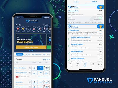 FanDuel Sportsbook mlb nhl nba nfl sports betting sportsbook sports mobile design mobile ui ui ux design fanduel
