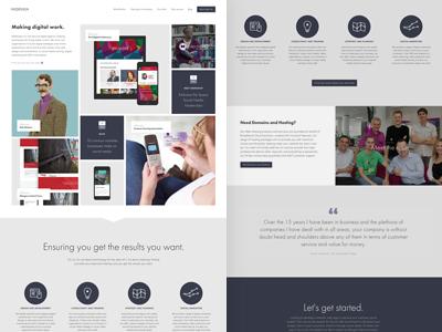 NSDesign web icons ux ui website folio agency