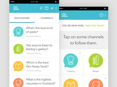 Chat App Concept discussion mobile chat ui ux ios app
