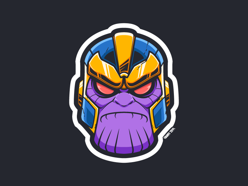 Thanos Fan Art villain superhero fan art cartooning stan lee avengers endgame thanos marvel