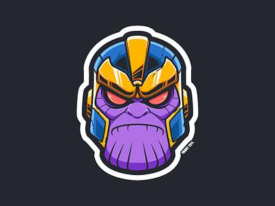 Thanos Fan Art villain superhero fan art cartooning stan lee avengers endgame thanos marvel