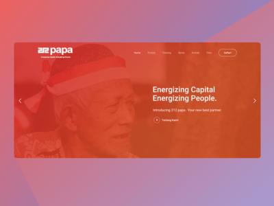 Papa Website Header