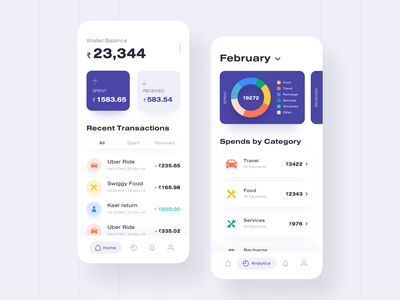 Wallet payment app chart analytics mobile bitcoin money currency banking transaction wallet app payment wallet landing page illustration app ux design ui