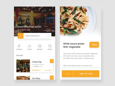 Food app design concept eat price mobile ux ui design buy restaurant app food