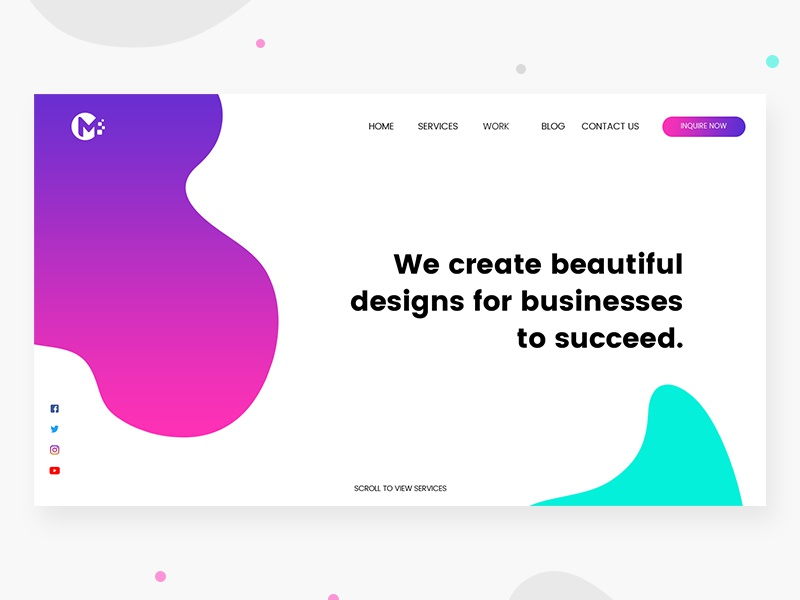 Business Landing Page Freebie web minimal branding typography vector landing page ux ui prototyping layout page landing illustration education design brand website landing page web