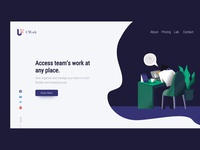 Team management landing page