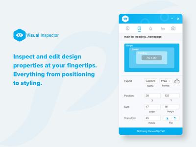 Inspect & Edit - Visual Inspector editing web tool design prototype canvasflip visual extension chrome
