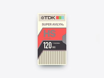 📼 Super Avilyn Video Cassette practice sketch vhs tdk video cassette 1990 retro