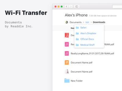🔌 Wi-Fi Transfer in Documents