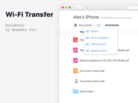 🔌 Wi-Fi Transfer in Documents